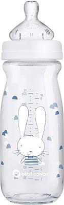 Bebe confort biberon in vetro da 270 ml tettarella in silicone t1 sweet bunny