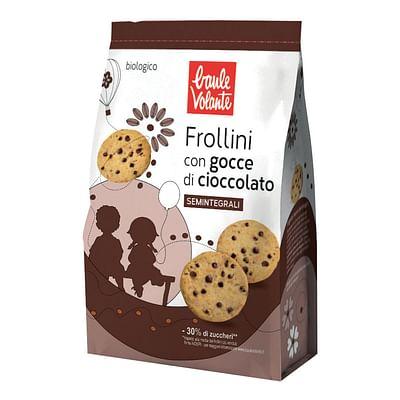Baule volante frollini con gocce di cioccolato semintegrali
