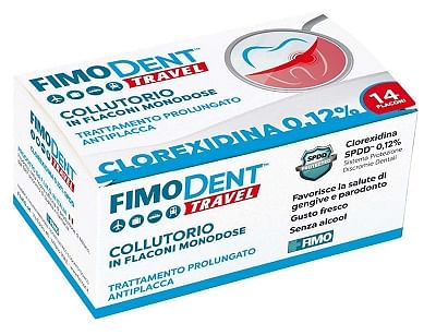 Fimodent travel collutorio clorexidina spdd 0,12% 14 flaconcini monodose 10 ml